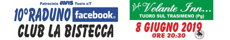 Raduno Facebook Club La Bistecca 2019