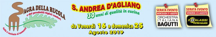 Sagra della Rucola e dei Prodotti Tipici Locali 2019