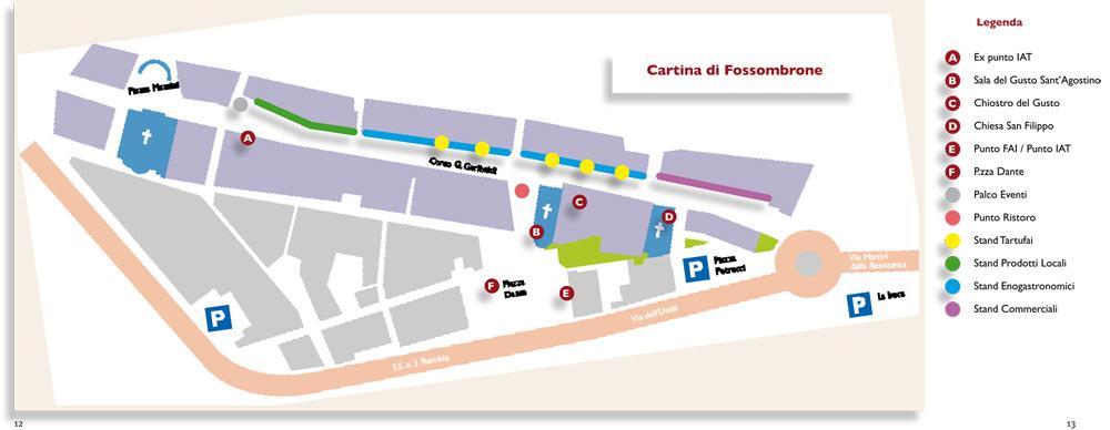 Cartina di Fossombrone - Mostra Mercato del Tartufo Bianchetto