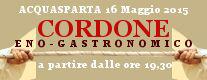 Cordone Eno - Gastronomico 2015
