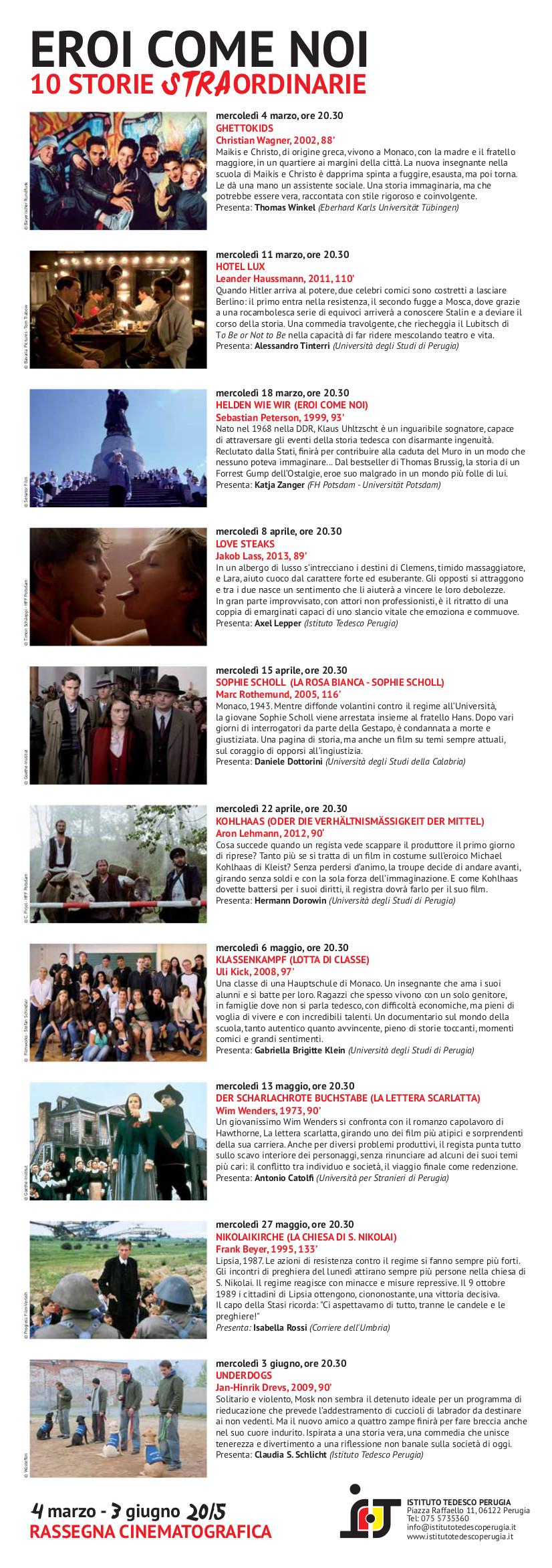 Programma Completo e Info sugli Spettacoli
