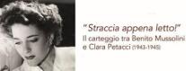 Straccia Appena Letto! Il Carteggio tra Mussolini e Petacci