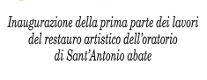 Inaugurazione Antico Oratorio di Sant' Antonio Abate
