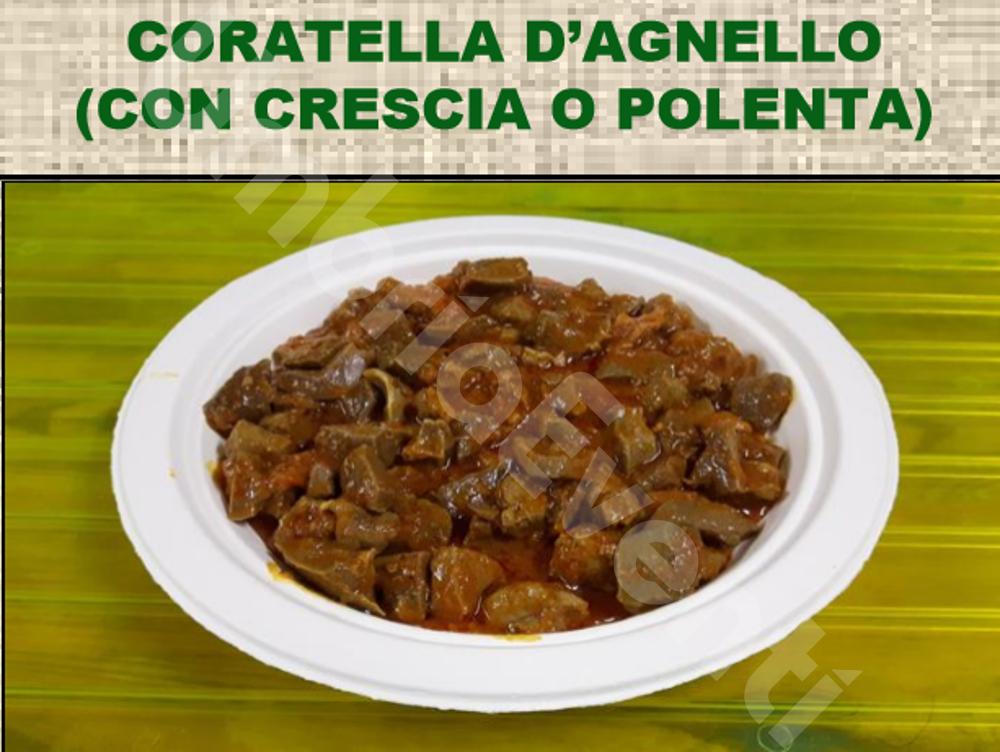 Coratella d'agnello (con crescia o polenta)