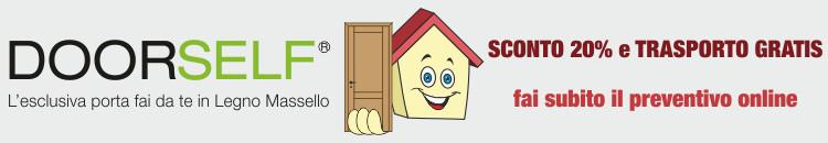 DoorSelf porta faidate in legno massello