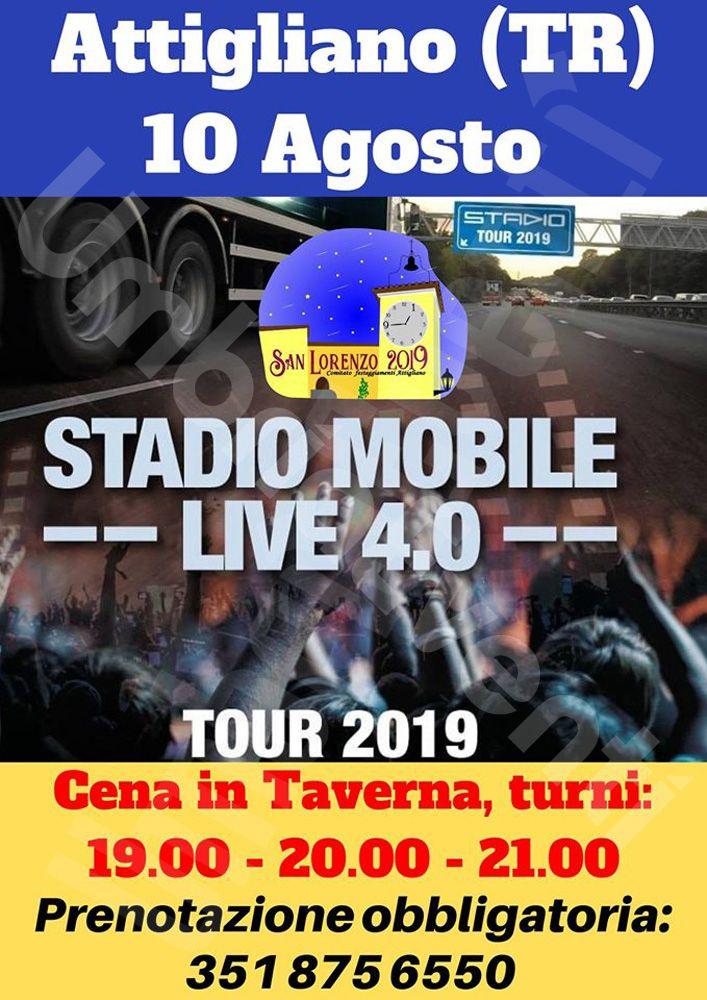 Stadio Tour 2019 ad Attigliano