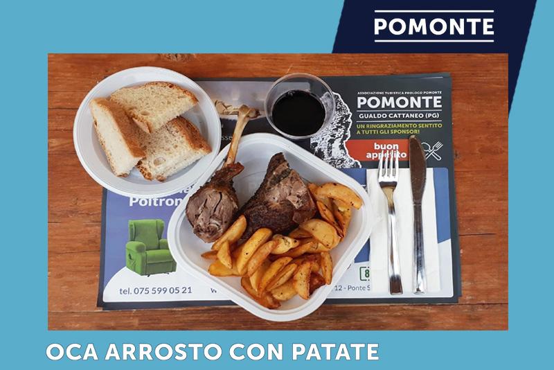 Oca Arrosto con Patate | Festa della Rievocazione della Cotta del Carbone Vegetale