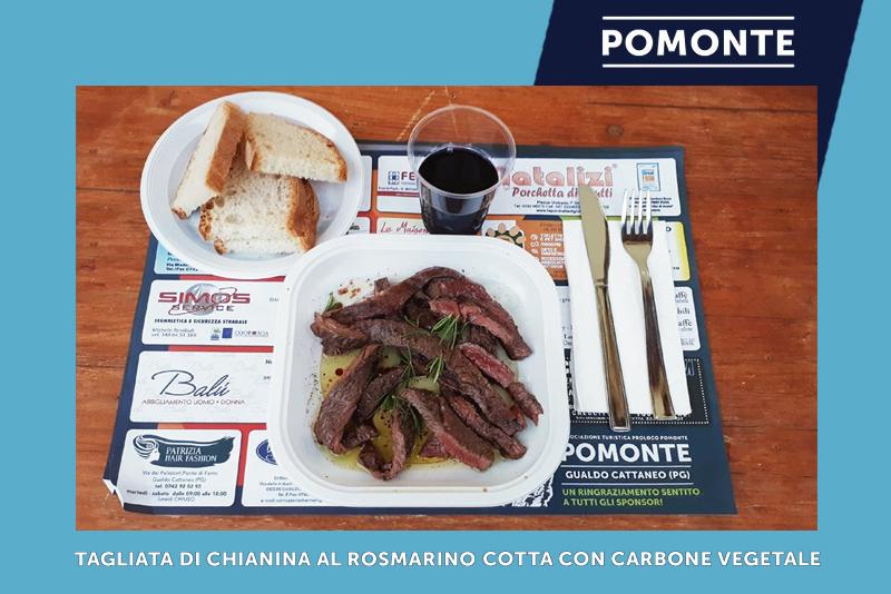 Tagliata di Chianina al Rosmarino cotta con carbone vegetale | Festa della Rievocazione della Cotta del Carbone Vegetale