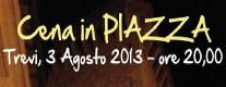 Cena in Piazza a Trevi - Estate a Trevi 2013