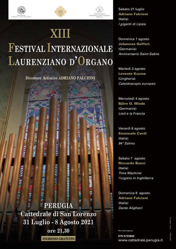 Programma Festival Internazionale Laurenziano d'Organo