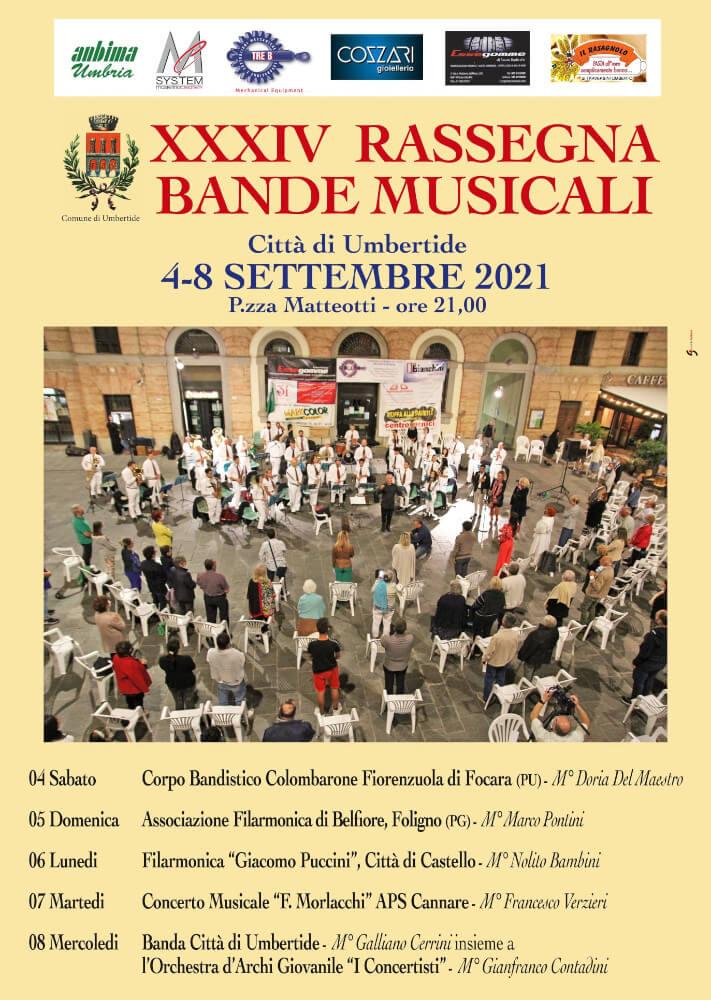 Programma Rassegna Bande Musicali Città di Umbertide