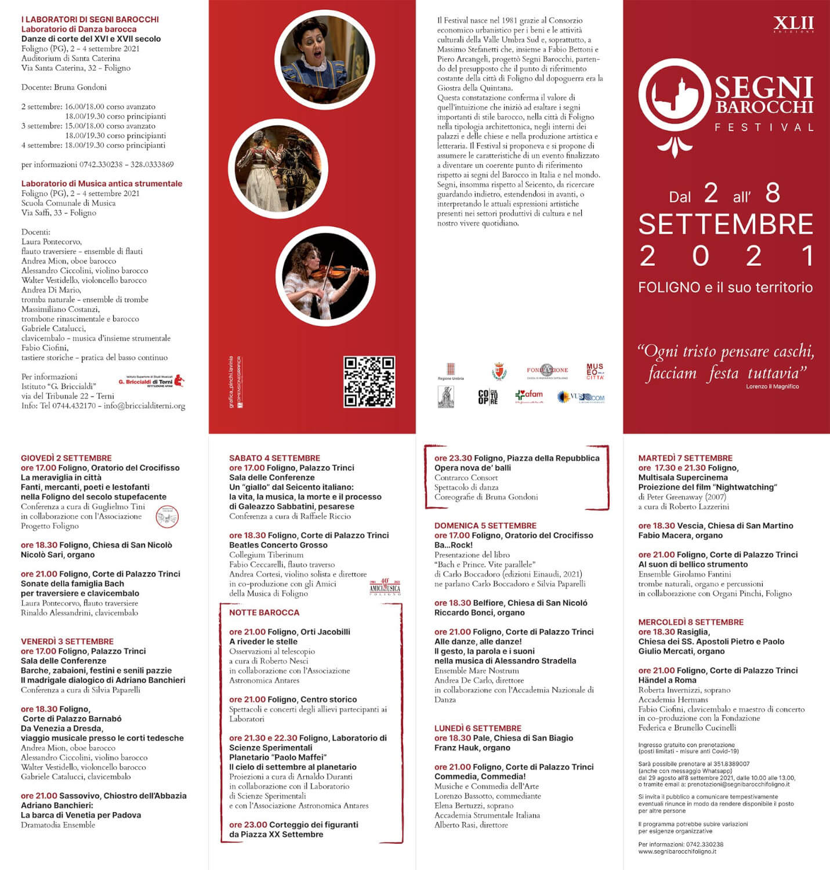 Programma Segni Barocchi Festival
